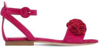 Aquazzura Desert Rose Suede Sandals