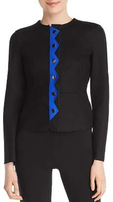 Emporio Armani Geometric Peplum Jacket