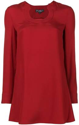 Salvatore Ferragamo Gancini neckline blouse