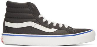 Vans Grey Suede OG Sk8-Hi LX Sneakers $70 thestylecure.com