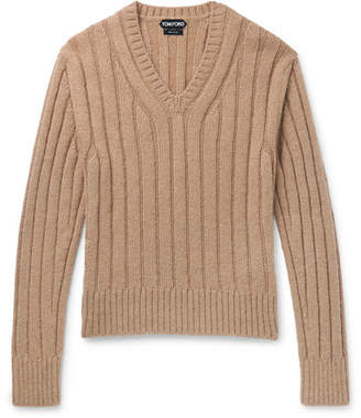 Tom Ford Slim-Fit Ribbed Wool-Blend Sweater