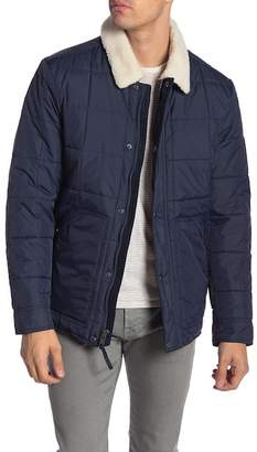 Andrew Marc Brixton Faux Shearling Collar & Lined Quilted Jacket