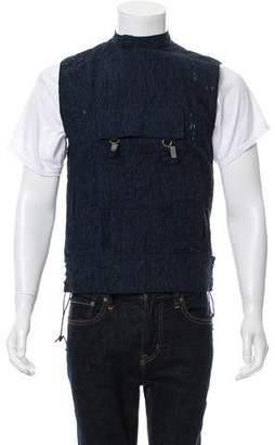 Alexandre Plokhov Jacquard Zip-Up Utility Vest