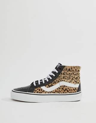 Vans Leopard Print Sk8-Hi Reissue Sneakers