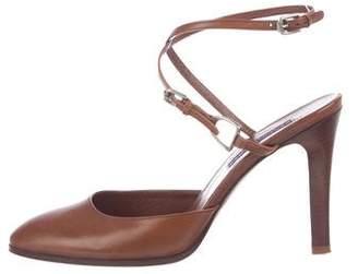 Ralph Lauren Purple Label Leather Ankle-Strap Pumps