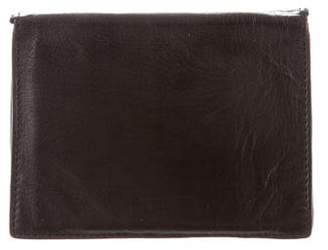 Ann Demeulemeester Leather Travel Wallet