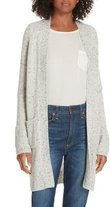 Theory Back Belt Open Cashmere Cardigan