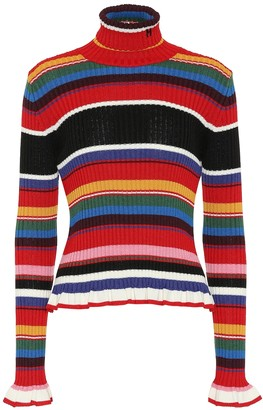 MSGM Ribbed turtleneck sweater