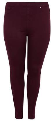 Evans Berry Red Jeggings