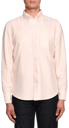 Tom Ford Tailored-Fit Oxford Sport Shirt, Pink