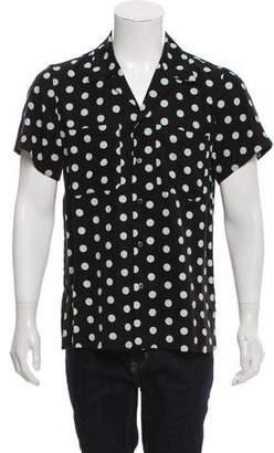 Amiri Polka-Dot Button-Up
