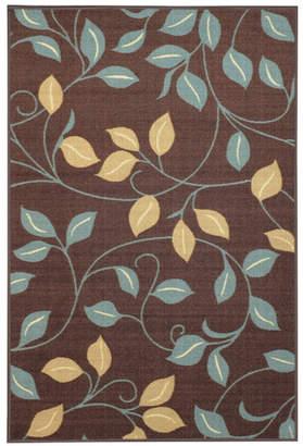Andover Mills Beauchamp Square Brown Floral Doormat Mat