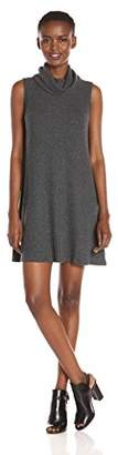 Michael Stars Women's Madison Brushed Sweater Rib Sleeveless Cowl Dress