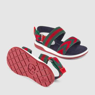 Gucci Toddler Chevron leather sandal