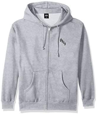 Obey Men's Reaper's Delight Zip Hooded Fleece Sweatshirt