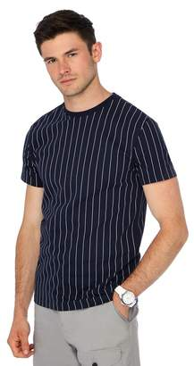 Red Herring Big And Tall Navy Striped Slim Fit T-Shirt