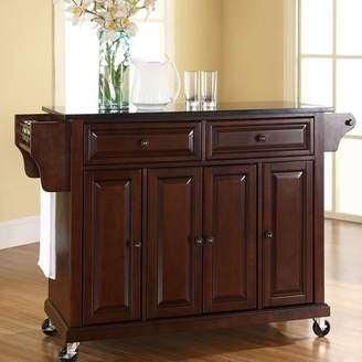 Co Darby Home Pottstown Kitchen Island with Granite Top Base