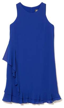 Vince Camuto Asymmetric Ruffle Dress