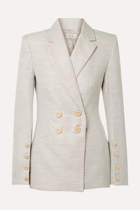 Rebecca Vallance Maya Cotton And Linen-blend Blazer - Light gray