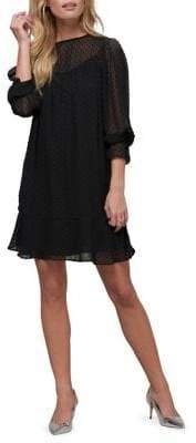ABS by Allen Schwartz Collection Polka Dot Shift Dress