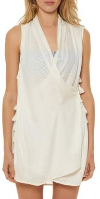 Red Carter Wrap Cover-Up Dress