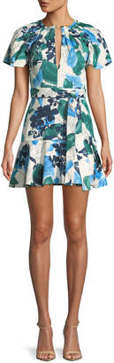Alexis Reede Floral Flounce Mini Dress
