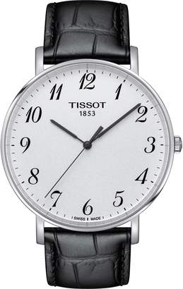 Tissot Everytime Leather Strap Watch, 42mm