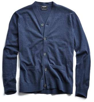 Todd Snyder Cotton Cardigan in Navy