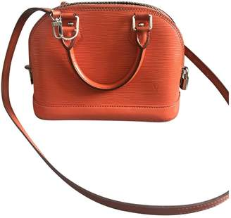 Louis Vuitton Alma BB Orange Leather Handbag