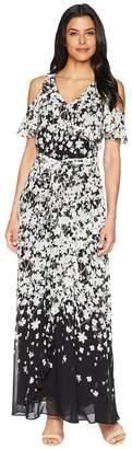 Calvin Klein Cold Shoulder Ruffle Maxi Dress Women's Dress