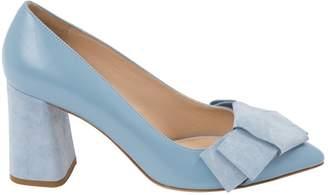 HUGO BOSS Blue Leather Heels