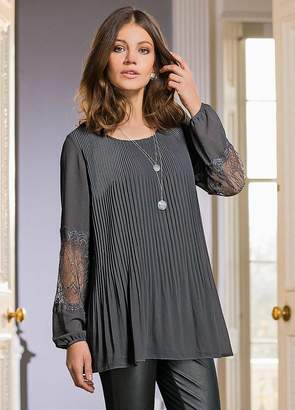Together Lace Pleated Tunic Top