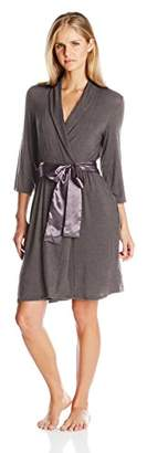 Midnight by Carole Hochman Women's Short Modal Robe