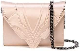 Elena Ghisellini metallic clutch bag