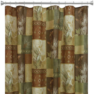 Bacova Guild Pinecone Silhouette Shower Curtain