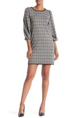 Max Studio Plaid Shift Dress