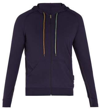 Paul Smith Zip Through Hooded Sweatshirt - Mens - Navy