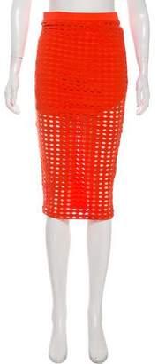 Alexander Wang Laser-Cut Knee-Length Skirt