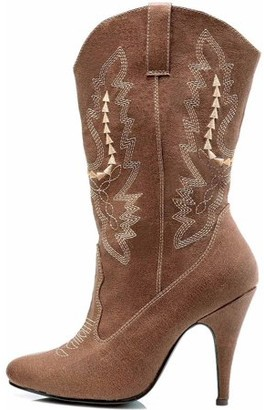 ELLIE SHOES Cowgirl Brown Boots Women's Adult Halloween Costume Accessory