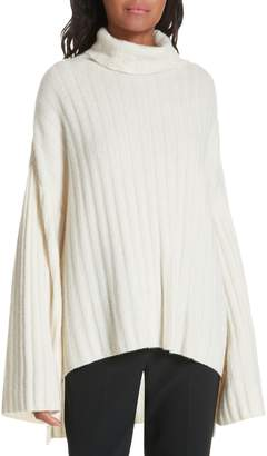 Milly Rib Knit Cashmere Oversize Sweater