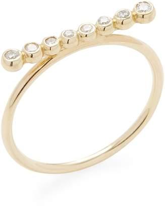Mizuki Women's 14K Gold Diamond Ring