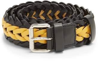 Prada Bi-colour braided leather belt