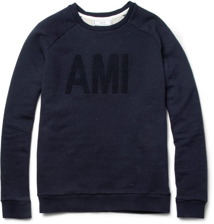 Ami Loopback-Cotton Sweatshirt