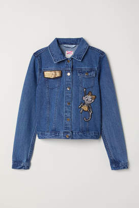H&M Sequined Denim Jacket - Blue