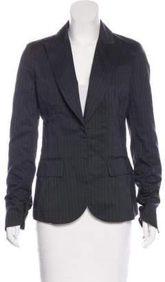 Kaufman Franco KAUFMANFRANCO Silk-Blend Pinstripe Blazer