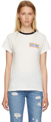 6397 White New York Ringer T-Shirt