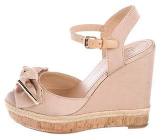 Tory Burch Bow-Accented Platform Wedges