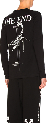OFF-WHITE Othelo's Scorpion Long Sleeve Tee $355 thestylecure.com