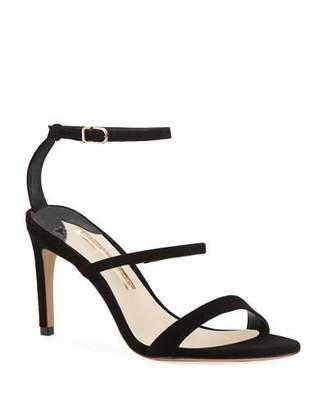 Sophia Webster Rosalind Strappy Suede Mid-Heel Sandal