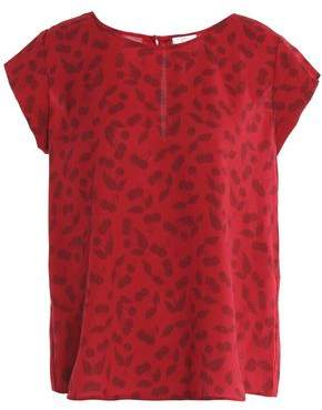 Joie Rancher B Printed Crepe Blouse